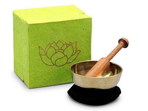 Klangschalen-Set in Box Mini grün mit Lotus