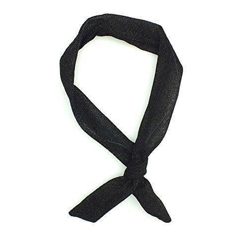 Lizzy® Rockabilly-Haarband, mit Draht, verschiedene Designs Gr. Einheitsgröße, Schwarz glitzernd