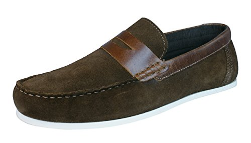 Red Tape Wardon hommes en daim mocassins / Chaussures brown