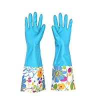 Cratone Cleaning Gloves PVC Gloves Waterproof Gloves Wide Mouth for Dish Washing Laundry Kitchen Bathroom Cleaning Supplies