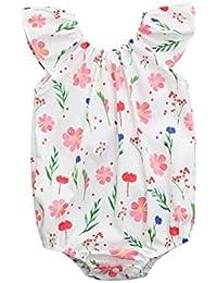 QinMM Body Floral para Bebé Niña, Verano Camisa de Sin Mangas Mono Tops Camiseta