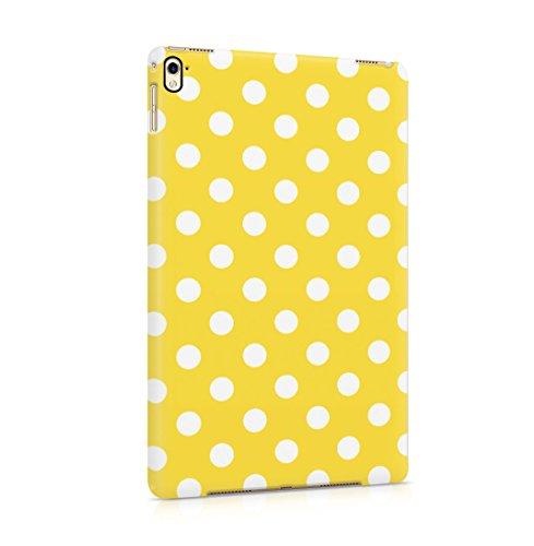 Yellow Polka Dots Pattern Dünne Rückschale aus Hartplastik für iPad Pro 9.7 Tablet Hülle Schutzhülle Slim Fit Case Cover Dots Cover Case Snap