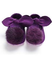 LanLan Zapatos de niños, Calzados/Zapatillas/Sandalias de niños Zapatos para bebés recién Nacidos Zapatos Bowknot Lindos con Pelotas borrosas para niños pequeños