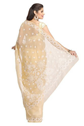 ADA-Womens-Faux-Georgette-Saree-With-Blouse-Piece-A130177Fawn