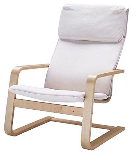 Custom Slipcover Replacement Pello Stuhl Baumwolle Abdeckungen Ersatz ist nach Maß für Ikea Pello Stuhl-Abdeckung Cotton White
