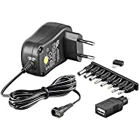 Universal Netzteil 1000mA 3V / 4,5V / 5V / 6V / 7,5V / 9V / 12V inkl. 8 Adapterstecker plus USB