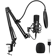 (Renewed) Maono AU-A04 Condenser Microphone Kit (Black)