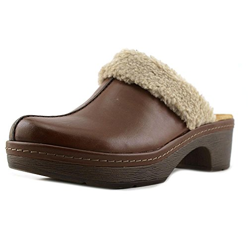 Tan Womens Oxford (Clarks Women's Preslet Grove Oxfords Shoes Dark Tan Leather Clog Mule 10 B (M))