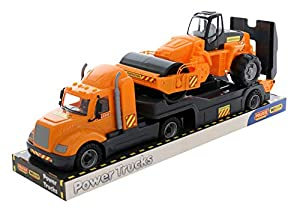 Polesie 58584 Mike, Remolque Camión con Bandeja Rodillo de Carretera - Vehículos de Juguete
