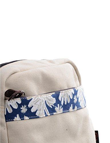 Douguyan Donna Borse a tracolla per picnic Scuola Viaggio Vacanze Tela E00155 Beige Beige