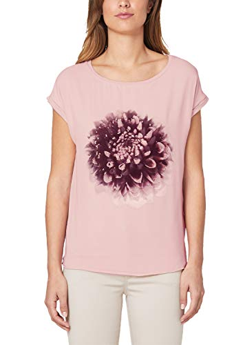 s.Oliver BLACK LABEL Damen T-Shirt mit Chiffon-Layer Rose 36 -
