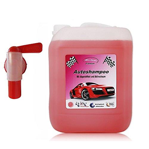 5 Liter Professional Premium Autoshampoo Konzentrat mit Auslaufhahn. Abperleffekt & Aktivschaum