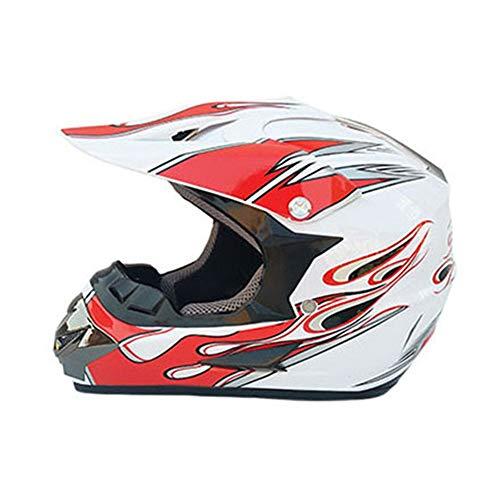 YHWCUICAN Motorrad-Sturzhelm Motocross Helm Motorradhelm Profi Motorrad Offroad Helm Downhill Sicherheit Racing Helm (Size : M)