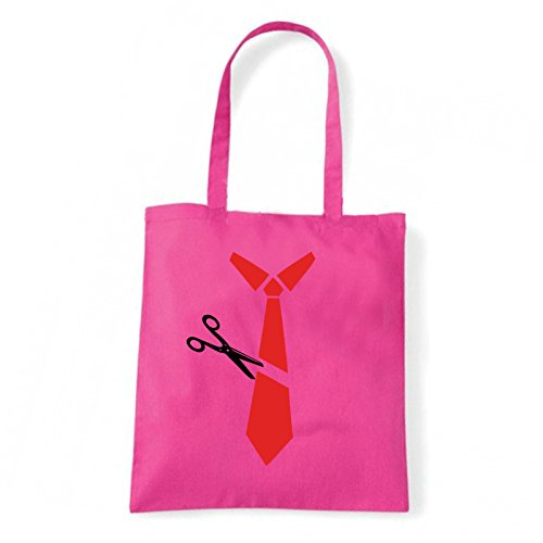 Art T-shirt, Borsa Shoulder cravatta-tagliata Fucsia