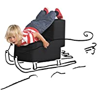 Preisvergleich für Lümmel von Sellando, Farbe darkblack, black, schwarz - DESIGN Hocker Sitzhocker Sitzmöbel Tisch Stuhl, für innen und außen, auch für den Außenbereich geeignet - schönes Geschenk