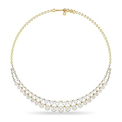 PC Jeweller The Kamaka 18KT Yellow Gold and Solitaire Necklace for Women