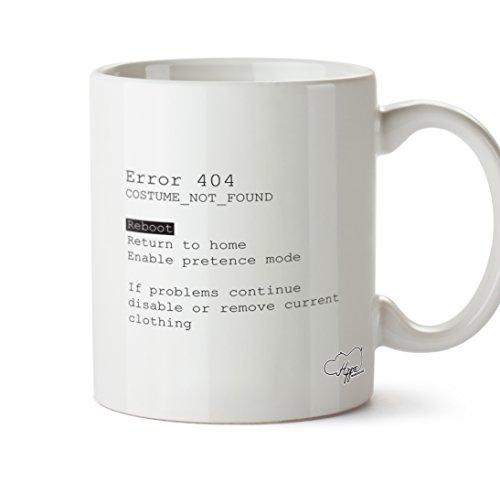 hippowarehouse Fehler 404Kostüm nicht gefunden Reboot Return To Home, können nicht Modus 283,5Tasse, keramik, weiß, One Size (Teen Nerd Kostüme)