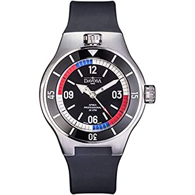 Davosa Automatic Apnea Diver Stainless Steel Black Red Face Wrist Watch