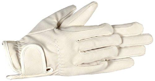 Riders Trend - Guanti termici da equitazione, in pelle PU, Bianco (bianco), XL