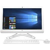 'HP 24-e000nl All-in-One Desktop PC, Display 23.8, Intel Core i3–7100u, RAM 8GB, HDD 1000GB, Grafik Intel HD 630, Weiß/Schnee weiß