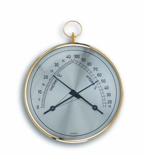 TFA Dostmann Klimatherm Analoges Thermo-Hygrometer, Kontrolle der Temperatur/Luftfeuchtigkeit, gesundes Raumklima