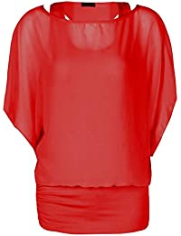 Fast Fashion – Haut Plus La Taille Double De Mousseline De Soie Plaine 2 En 1 - Femmes
