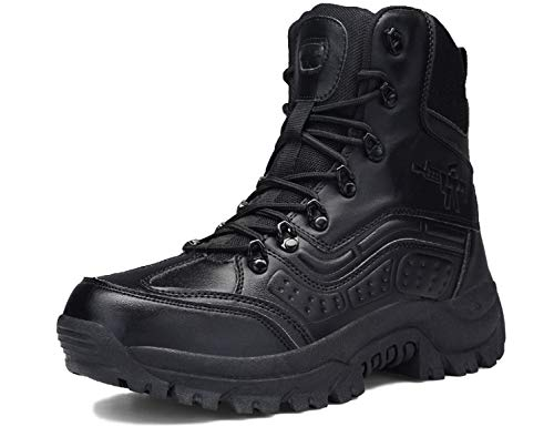 SINOES Botas Servicio Militar Calzado Trabajo Zapatos Hombre - Botines Desert Militares Ejército Táctico...