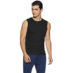 Jockey Men's Cotton Muscle Tee (9930-0105-BLACK Black M)
