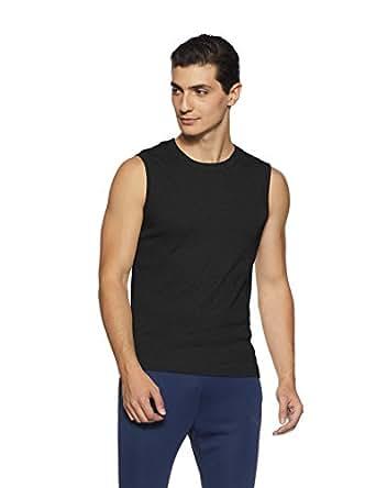Jockey Men's Cotton Muscle Tee (9930-0105-BLACK Black S)