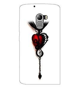 PrintDhaba Heart Pendant D-1221 Back Case Cover for LENOVO VIBE X3 c78 (Multi-Coloured)