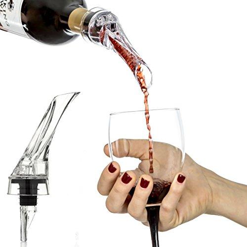 Vin Rouge Decanter Aérateur pour Ukelove Essential liquide Raisin vins Bouchon à whisky Aérateur carafes Bec verseur filtre pour équipement de bar Cocktail Deluxe