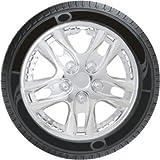 Oshotto Premium OSHO-WC011C 13-inch Black Chrome Finish Universal Fitting-Push Type Car Wheel Cover (Set of 4)