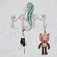 Tooarts Iron Wall Hanger Hook 4 Hooks Decor for Coats Bags Keys Wall Mount Clothes Holder Decorative Gift