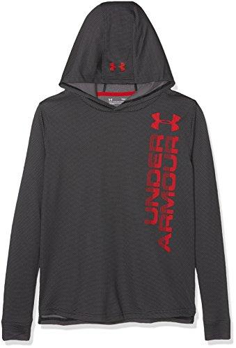 Under Armour Jungen Textured Tech Hoody Langarmshirt, Black, M