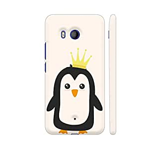 Colorpur King Penguin Artwork On HTC U11 Cover (Designer Mobile Back Case) | Artist: Torben