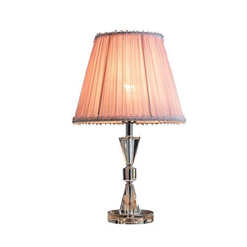 Tischlampe, Rosa Schlafzimmer Kristall Tischlampe, Nachttischlampe Europäische Kreative Romantische Einfache Moderne Warme Hochzeit Dekoration Tischlampe (Rosa) Dekorative Tischlampe (Schritt Frisch Kristalle)