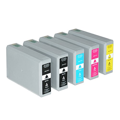 5 Tintenpatronen für Epson WorkForce Pro WF-4630 4640 DWF DTWF 5110 5190 DW 5620 5690 DWF C13 T7911 T7912 T7913 T7914 4010