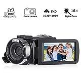 Caméscope Numérique, Cozime Caméscope Full HD 1080P, Caméra Vidéo Numérique 24.0 Megapixels, Appareil Video Numérique 16X Zoom 3.0 Pouces Ecran IPS-LCD Support 270°Rotation