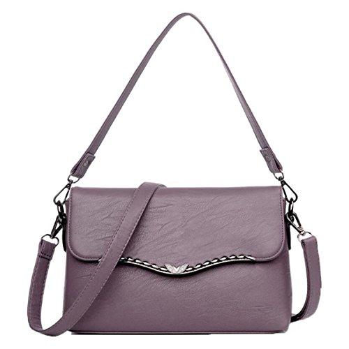 WU ZHI Mittelalter Damen Mutter Tasche Neue Produkt Schulter Messenger Bag PU Weichen Oberfläche Handtasche Handtasche Purple