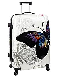 Valise à 4 roues 70 cm papillon - Madisson