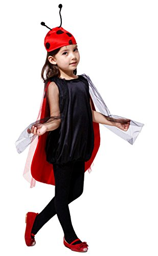 Inception Pro Infinite Disfraz - Niña - Mariquita - Ladybug - Disfraces - Halloween - Carnaval - Cosplay (Talla S 95-110 CM)