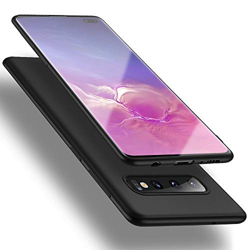 X-level für Samsung Galaxy S10 Plus Hülle, [Guardian Serie] Soft Flex Silikon Premium TPU Echtes Telefongefühl Handyhülle Schutzhülle Kompatibel mit Galaxy S10 Plus 6,4 Zoll Case Cover - Schwarz