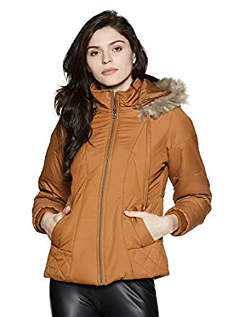 Qube By Fort Collins Women's Parka Hoodie (39222 SMU_Tan_XL)