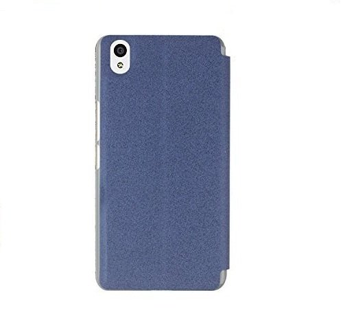 Heartly GoldSand Sparkle Luxury PU Leather Window Flip Stand Back Case Cover For Oneplus X / One Plus X – Power Blue