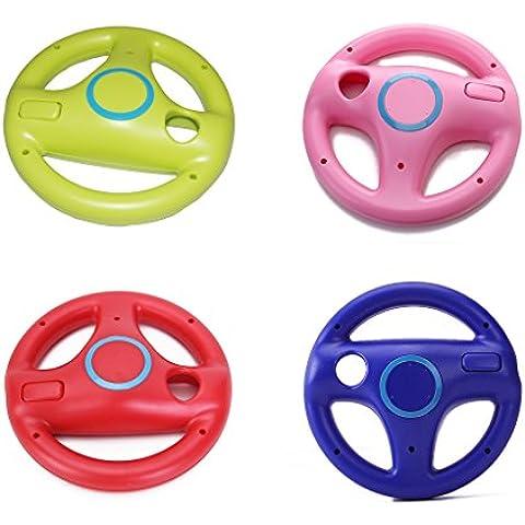 4 X Mario Kart De Carreras Volante Para El Regulador Alejado De Nintendo Wii