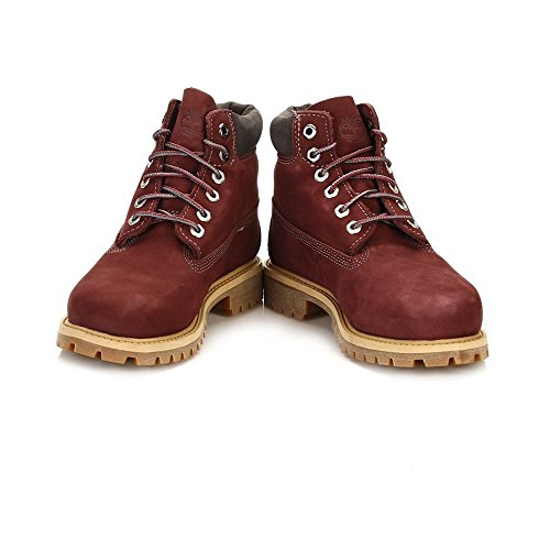 Timberland Junior Dark Port 6 Inch Premium Waterproof Bottes Bordeaux