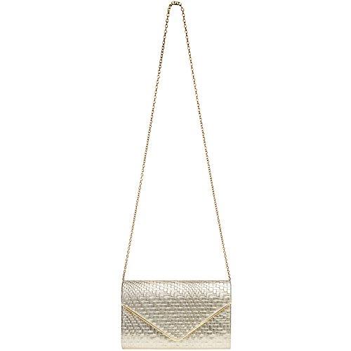Pochette con TA385 Catena CASPAR e Geometrico Oro Motivo Elegante Donna wqEUg4