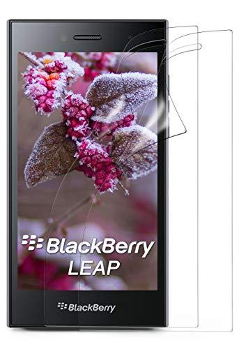 moex 2X BlackBerry Leap | Schutzfolie Klar Display Schutz [Crystal-Clear] Screen Protector Bildschirm Handy-Folie Dünn Displayschutz-Folie für BlackBerry Leap Displayfolie