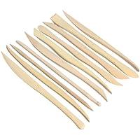 Tenflyer Pack de 10 arcilla Cuchillo de madera Escultura Cerámica afilar las herramientas de modelado de Ajuste