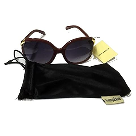 Tommy and Kate Gold Trim Ladies Sunglasses in Bag